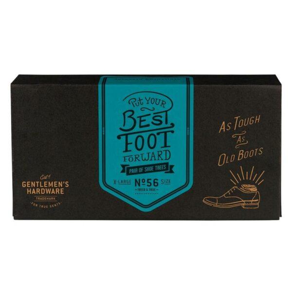 Houten schoenspanners in doos