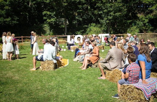 Spread the love op een festival wedding