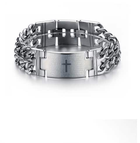 Stainless steel chain link armband