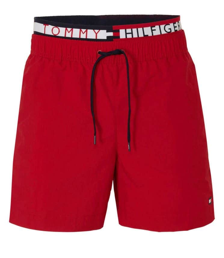 Tommy Hilfiger zwemshort met dubbele tailleband rood