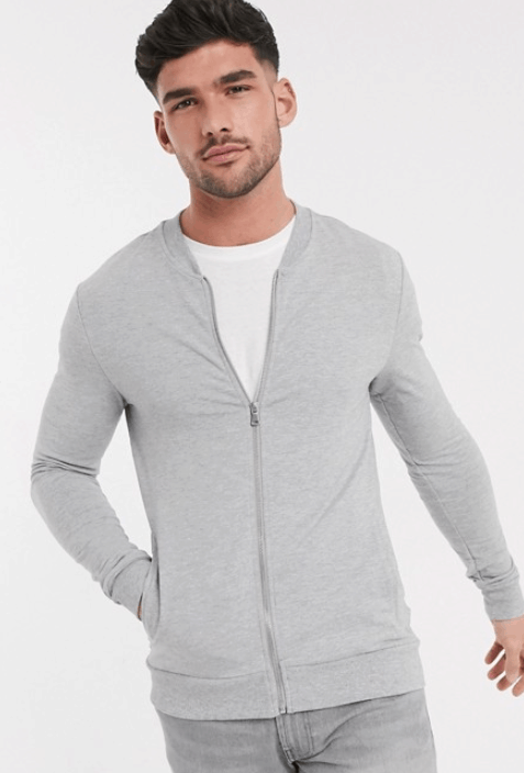 Zomerjas heren vest: New Look muscle fit jersey bomber